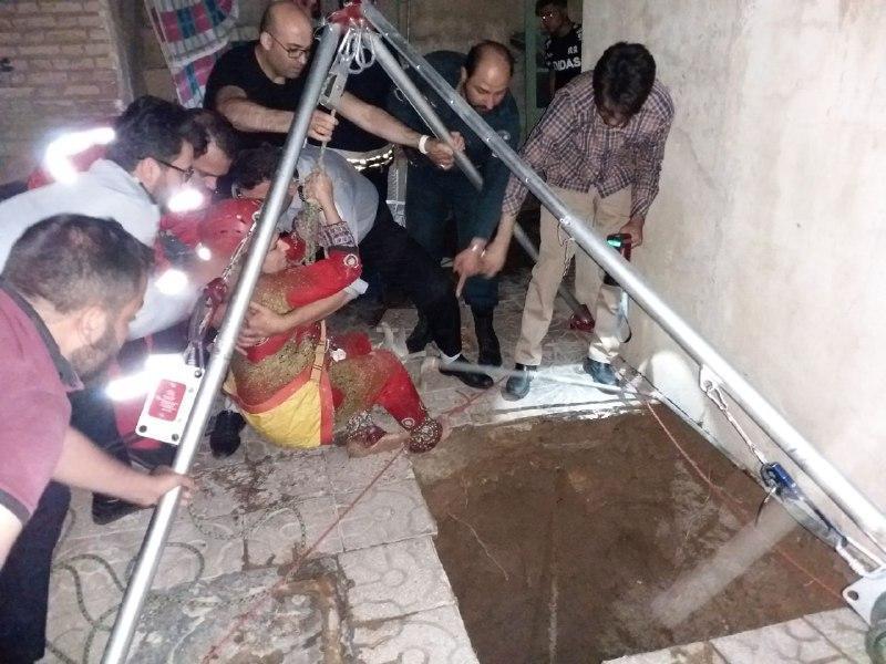 نجات بانوی سمنانی از چاه پنج متری